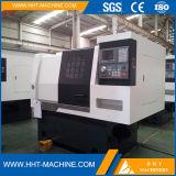 Máquina inclinada del torno del CNC de la base del bajo costo de Tck-42L mini