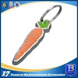 Zanahoria de encargo Keychains del metal para los regalos de la promoción