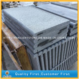 Azulejos grises oscuros flameados del granito de G654 Padang para el suelo/la escalera