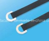 Type enduit d'époxyde chaud type serre-câble de boucle d'acier inoxydable de vente d'usine de D