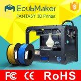 précision 3D Drucker, imprimante 3D, imprimante multifonctionnelle de DIY personnelle de 0.1mm de Fdm 3D de gicleur duel