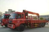 Dongfeng 6X4 Lotty Turck는 12t 기중기 트럭으로 거치했다