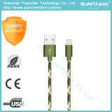 Os dados trançados do USB do micro do nylon novo jejuam cabo cobrando para o iPhone 7/6/5