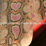 Cuir de chaussures double face extérieur d'unité centrale de serpent (QDL-SP030)