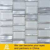 Мозаика специального проекта белая и серебряная металла смешивания стекла