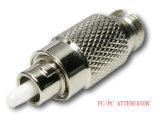 Tipo fibra do adaptador do cabo do atenuador fixo ótica