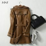 Shearing Leather Coat Long der Dame Art