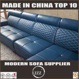 Projeto italiano L sofá do sofá moderno do couro da forma