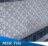 Azulejo azul y blanco Mskqhc007 de la inyección de tinta del suelo del hexágono