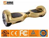 リチウムイオンBateryが付いている金のバランスをとるスクーター