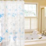 Tenda di acquazzone impermeabile antipiega popolare della stanza da bagno di PEVA (04S0029)