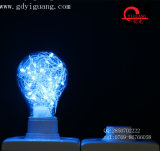 Blue Party Decoración De Alambre De Cobre Luz Dimmable RGB LED Bombilla