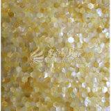 Azulejo de mosaico amarillo del shell 23m m Hexagan de la fregona del labio