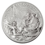 Plata antigua plateada Die Casting medallones de recuerdo