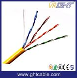 cable UTP Cat5e de la red 4pairs con el Ce RoHS