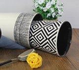 2 tazas de encargo de cerámica al por mayor esmaltadas 12oz, taza del color de tonos con la cuchara