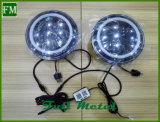 JkおよびTjのための' 97-の「17のBluetoothカラー変更のハローLEDのヘッドライト