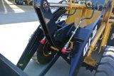 Mini cargador de múltiples funciones de la rueda de las partes frontales del alimentador del descargador con la lámina de la nieve