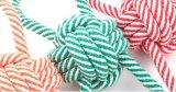 Tres colores perros de cuerda juguetes para masticar y jugar