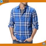 2017 camice alla moda di disegno della camicia della flanella di cotone degli uomini della molla