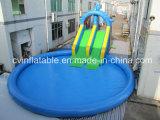 De opblaasbare Blauwe Dia van de Pool van het Water