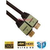 Alta calidad y cable HDMI de alta velocidad con Ethernet 1080P, 4k