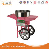 손수레를 가진 분홍색 전기 솜사탕 Floss 기계