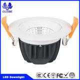 PFEILER 7W weißes AluminiumDimmable warmes Weiß LED Downlight rund/Quadrat