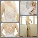 Планки спагеттиа отбортовывая a - линию платье венчания (Dream-100097)