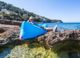 2017新しい携帯用不精なLoungerの不精な寝袋の膨脹可能な空気ソファー