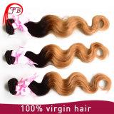 倍によって引かれるOmbre 1b/27の毛のブラジルのバージンの人間の毛髪