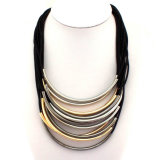 Новое популярное Multi - раздел краткости пробки металла веревочки слоя вспомогательного оборудования способа ожерелья Clavicle одичалого женского