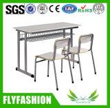 의자 교실 가구를 가진 단단한 나무 2 시트 학생 테이블