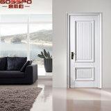 Porte intérieure interne blanche découpée par coutume en bois solide de pièce (GSP2-095)
