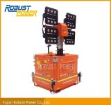 Stationary type of 7m Hydraulic Operated LED Mobile Lighting Tower