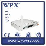 eenheid van het Netwerk van 4ge+2pots WiFi Gepon Ont/ONU de Optische