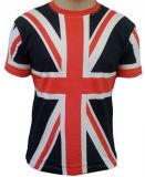 T-shirt estampé par 3D court en gros de chemise (A817)