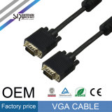 Varón del precio de fábrica de Sipu 15pin al cable masculino 3+2 del VGA