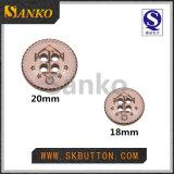 Кнопка изготовленный на заказ легирующего металла с линиями для одежды