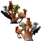 Супер милый плюш марионеток игрушки малышей миниым заполненный перстом