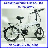 Dobramento da potência do lítio de 20 polegadas elétrico fora da bicicleta da sujeira da estrada com o motor de movimentação 8fun MEADOS DE