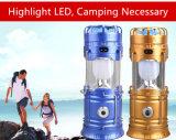 Lanterna di campeggio solare con il ventilatore