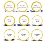 Sz Vervaardiging lC-St 9/125 OS2 de Duplex Single-Mode Kabel van de Vezel van pvc van 2.0mm Optische