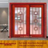 Puerta deslizante interior sólida del vidrio Tempered del marco de madera (GSP3-020)