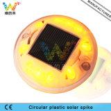 Luz redonda nova do jardim - parafuso prisioneiro solar leve verde da estrada do diodo emissor de luz