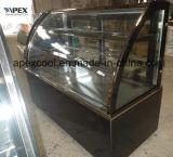 2 camadas curvaram a caixa Refrigerated vidro da padaria