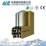 Perfil de alumínio de anodização do ouro para Windows e portas