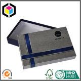 Rectángulo de almacenaje rígido a todo color brillante del papel de la cartulina con la tapa