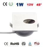 1W 12V 반점 빛 LED 단계 빛 옥수수 속 LED 층계 램프
