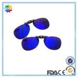 Clip sur lunettes Clip sur lunettes de soleil Blue Mirrored Lenses